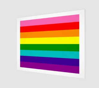 Rainbow Flag Original 8 Stripes Pattern LGBT Pride preview