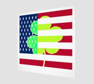 Aperçu de St. Patrick's Day Irish Shamrock Clover American Flag