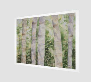Aperçu de Birch Tree Wood Print