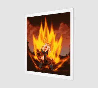 Super saiyan goku rage art print preview