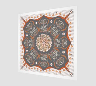 Aperçu de Exotic Flower | Orange | Gray | Beige | White