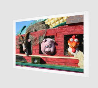 Barnyard Float-Goat, Pig, & Chicken Wall Art preview
