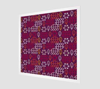 Aperçu de red geometric scandi style art