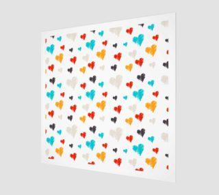 Aperçu de colorful doodle hearts