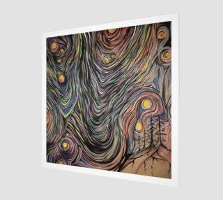 Aperçu de Night Sky Print on Wood