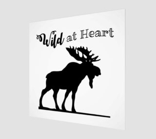 Wild at Heart-Moose Wall Art preview