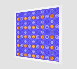 Aperçu de blue symmetrical stars and circles