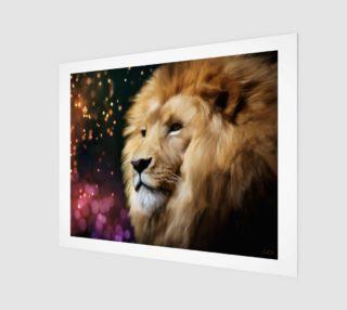 "Lion digital painting 20"" x 16"" art print preview"
