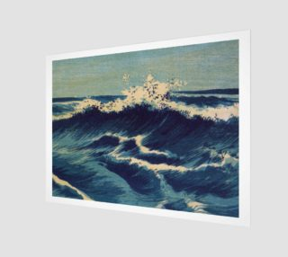Japanese Print - Wave - C - Hatō zu - Uehara, Konen preview