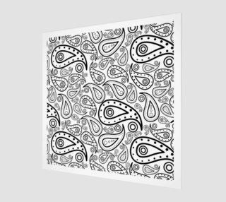 Aperçu de black and white paisley