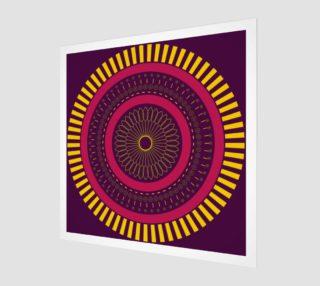 Aperçu de red zen mandala circle