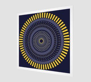 Aperçu de blue zen mandala circle