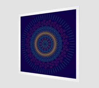 Aperçu de blue mandala circular