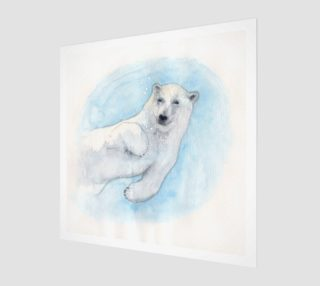Polar bear underwater preview