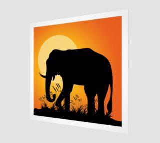 Aperçu de Elephant Silhouette