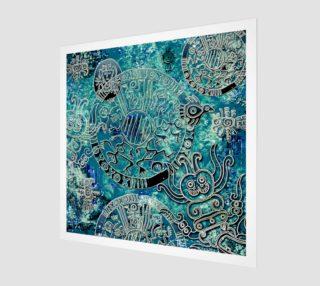 Aztec blues2 Wall Art poster aperçu