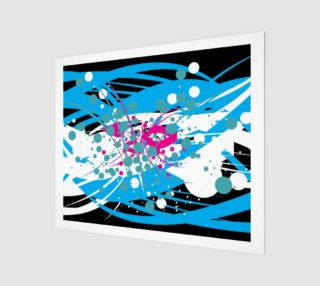Abstract in Blue, Black, White and Pink preview