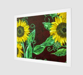 Sunflowers with Crackle 20 x 16 preview