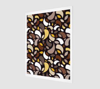 Aperçu de Brown Leaves And Geometric Shapes
