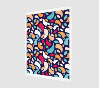 Aperçu de Multicolor Leaves And Geometric Shapes