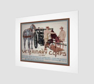 Aperçu de Vintage WW2 Veterinary Corp Poster
