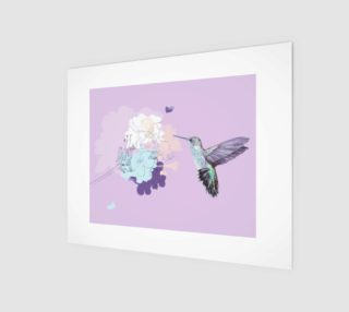 Lavender hummingbird wall canvas black sides preview