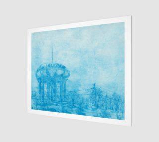 Aperçu de The Sudbury Water Tower Blue 20 x 24