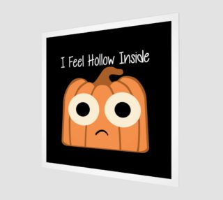 I Feel Hollow Inside-Black Background Wall Art preview
