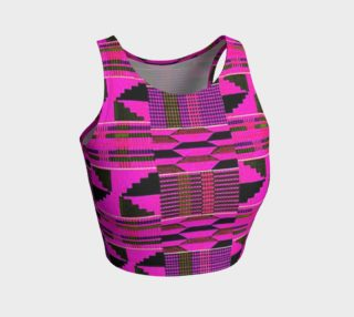 Fuchsia kente crop top preview