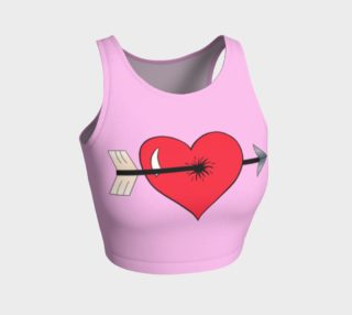 Struck by Cupid's Arrow Athletic Crop Top preview