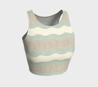 Wavy River 6 in Cream, Sage Green and Tan preview