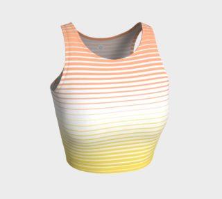 Ombre Stripe White Yellow Peach preview