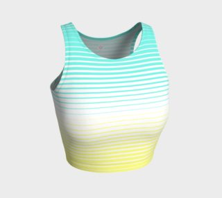 Ombre Stripe White Turquoise Yellow preview