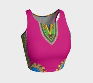 Pink Dashiki Crop Top preview