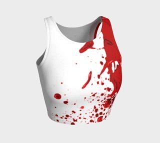 Blood Splatter First Cosplay Halloween Athletic Crop Top preview