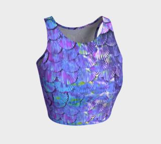 Purple Mermaid Scale Crop Top  preview