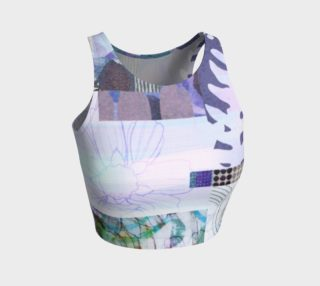 Trailing Petals Collage Crop Top by Deloresart preview