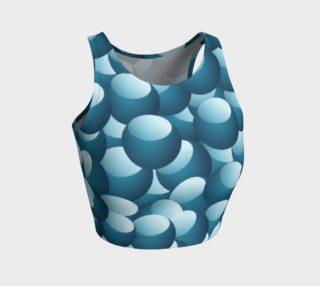 Blue Bubbles Athletic Crop Top preview