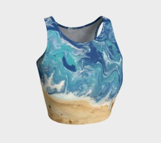Beach Abstract Athletic Crop Top preview