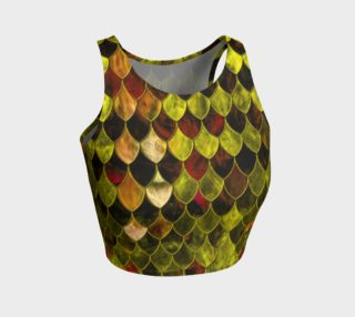 Fiery Gold Dragon Scales Athletic Crop Top preview