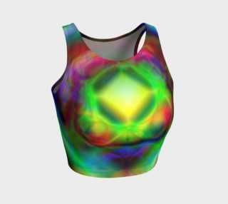 Psychedelic Energy Crop Top preview