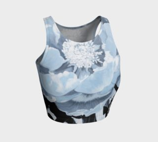"""A Peony For Your Thoughts"" Athletic Crop Top preview"