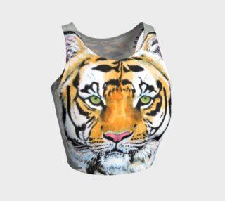 """""""Top Cat"""" Tiger - Crop Top preview"""