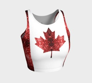 Canada flag red sparkles preview