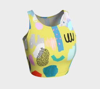 Women's Crop Top Abstract Pattern 2 preview