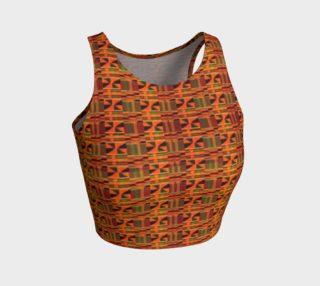 Orange kente mini print crop top preview