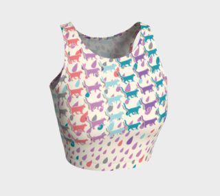 Strolling Cats and Rain Drops Athletic Crop Top preview