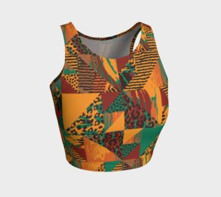 Abstract Safari Print Athletic Crop Top preview