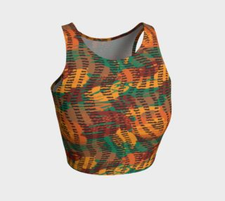Abstract Animal Stripes Athletic Crop Top preview