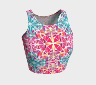 Pink and Blue Kaleidoscope Athletic Crop Top preview